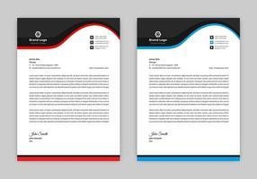 Curved Header Letterhead Design Template vector