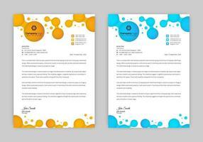 Letterhead design with circles vector