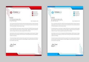 Futuristic tech letterhead design  vector