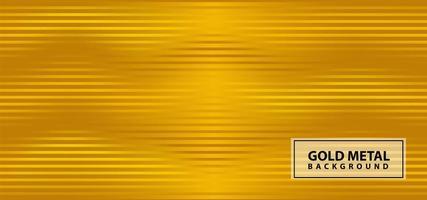Gold wavy line metal design vector