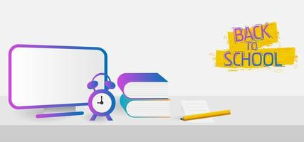 volta às aulas design moderno estilo gradiente