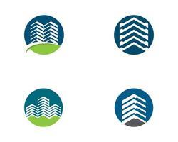 conjunto de iconos de logotipo inmobiliario