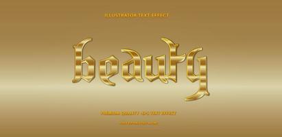 estilo de texto de oro brillante vector