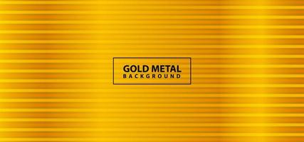 Shiny gold metal line design vector