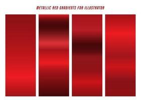 gradientes vermelhos brilhantes vetor