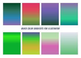 Mixed Color Gradients vector