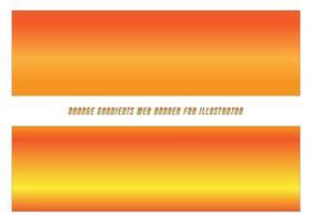 banners de web de gradientes laranja, amarelos vetor