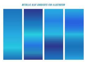 gradientes de neón azul brillante vector