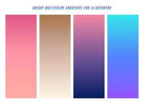 Bright Multicolor Gradients vector