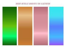 Shiny Green, Tan, Pink, Blue Gradients vector