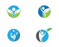 Eco healthy life icon set