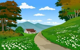 Beautiful Countryside Scenery vector