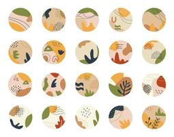 iconos redondos de forma redonda de moda para redes sociales