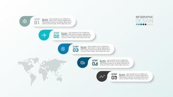 goutte et capsule infographique en 6 étapes vecteur