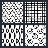 Hand drawn brush stroke seamless patterns