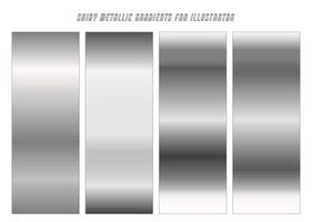Shiny Chrome Gradients vector