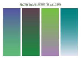 Blue, Green, Purple Gradients vector
