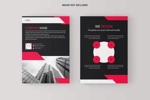 Black red business flyer template  vector