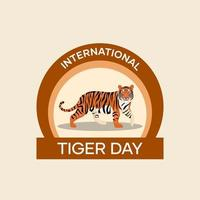 International Tiger Day Badge vector