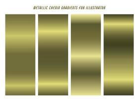 Shiny Green-Gold Chenin Gradients vector