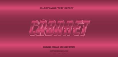 brillante '' cabaret '' estilo de texto rosa oscuro vector