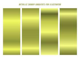 Shiny, Pastel Yellow ''Canary'' Gradients vector