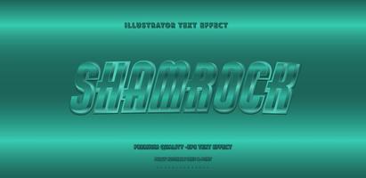 style de texte vert sarcelle brillant '' shamrock ''