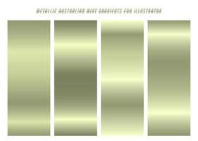 Shiny, Yellowish Green Silver ''Aumint'' Gradients vector