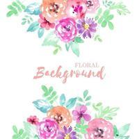 borda floral desenhada de mão rústica
