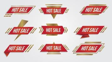 Red and gold angled shape hot sale emblems vector