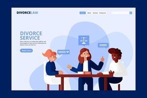 Divorce service landing page vector