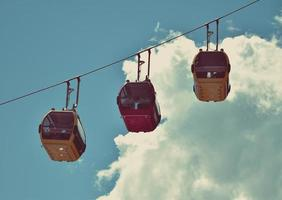 Colorful cable cars photo