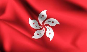 Hong kong 3D flag