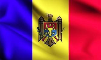 Moldova 3d flag  vector