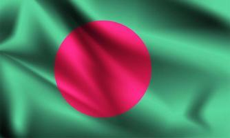 Bangladesh 3d flag  vector