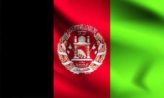 Afghanistan 3d flag  vector
