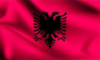 Albania 3d flag  vector