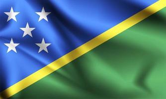 bandera 3d de las islas salomón