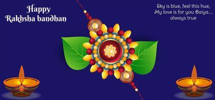 Indian Festival Rakhsha Bandhan background vector