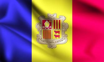 Andorra 3d flag  vector