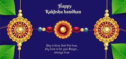 Happy Raksha Bandhan Celebration Background vector