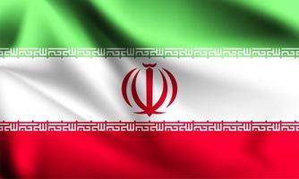 Iran 3d flag  vector