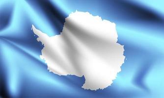 drapeau 3d antarctique vecteur