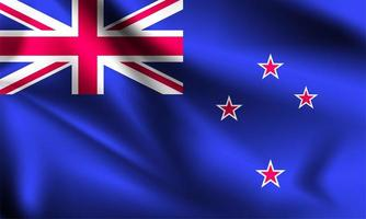 New Zealand 3d flag  vector