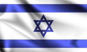 israel bandera 3d vector
