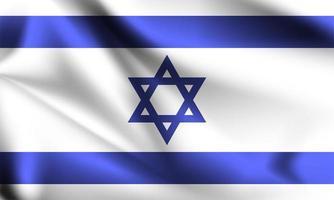 Israel 3d flag  vector