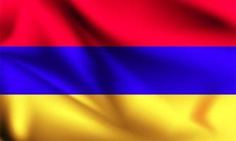 Armenia 3d flag vector