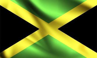 Jamaica 3d flag  vector