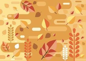 Fondo de otoño en estilo plano vector