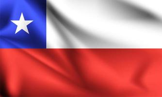 Chile 3d flag vector